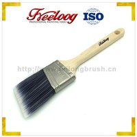 High quality 158 series hard wood fluted paint brush with Stainless Steel Ferrule