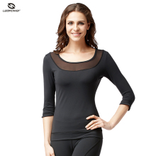 High Quality Female Gym Wear Nylon Yoga Sweatshirts Body Up Fitness Wear