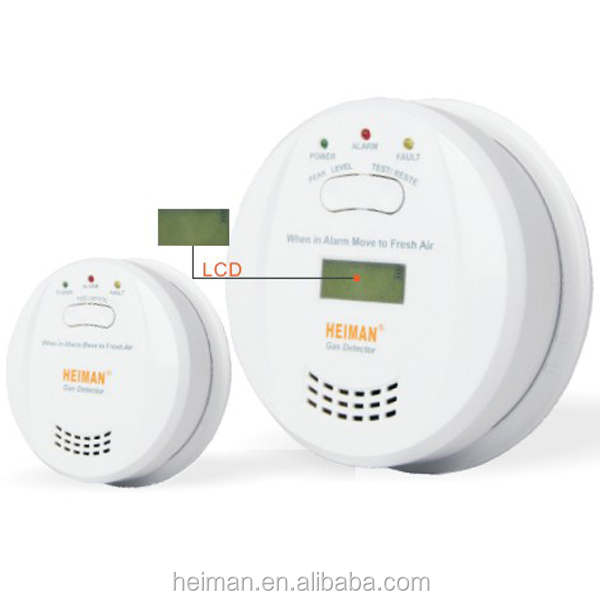LCD display CO Carbon Monoxide Poisoning Sensor Monitor Alarm Detector Home Alarm Operated Smoke