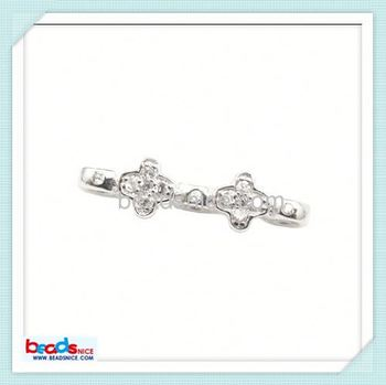 Beadsnice ID 26456 Flower spacer with zircon of 925 beads wholesale silver bead