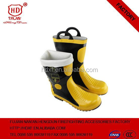 2016 High Quality Safty fire fighting resistant boots