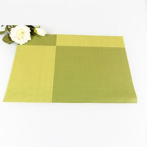 Factory sale special design mould-proof heat resistant pvc woven table place mat