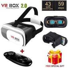 Google cardboard HeadMount VR BOX 2.0 Version VR Virtual 3D Glasses +  wireless bluetooth remote controller gamepad