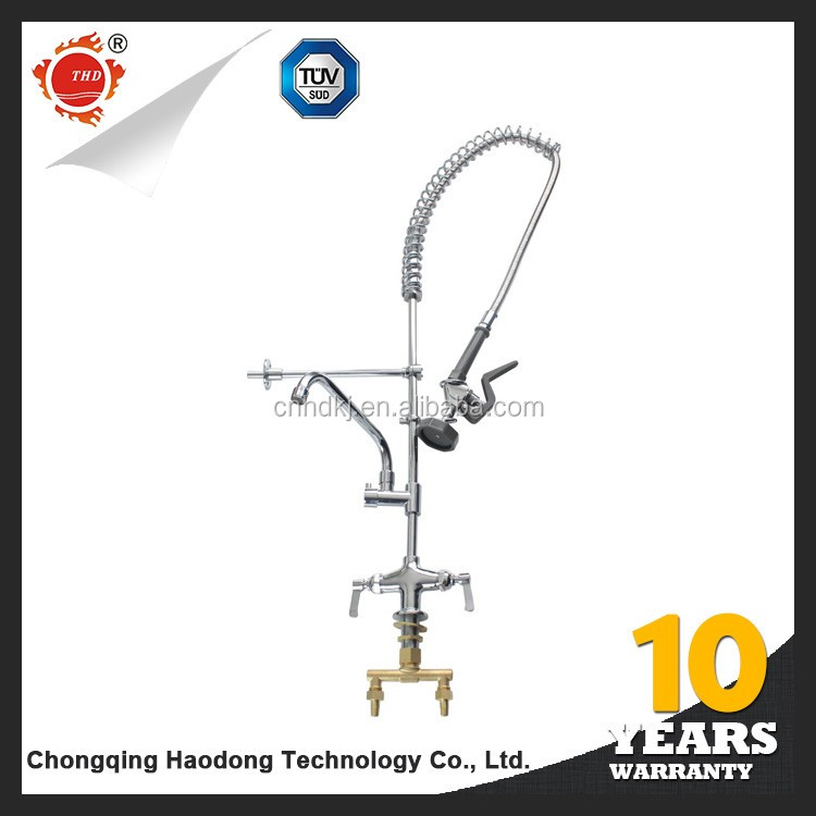 Modern hotel stainless steel single handle upc brushed kitchen faucets