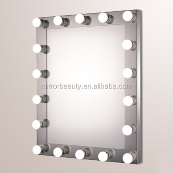 2017 Newest Hollywood Makeup Mirror With Led Lights For Beauty Salon