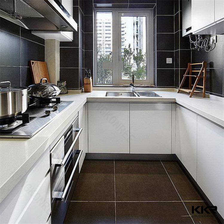 Glanzend acryl keuken werkbladen met back splash en voorpaneel werkbladen ijdelheid tops - Keuken back bar ...