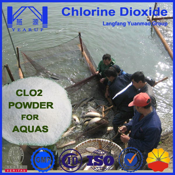 Water Treatment Chemical Chlorine dioxide Tablet for Aquaculture with Free Sample