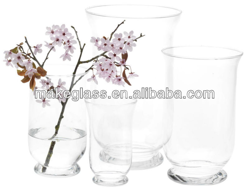 glassvase beauitful design glass vase can with antifical flower