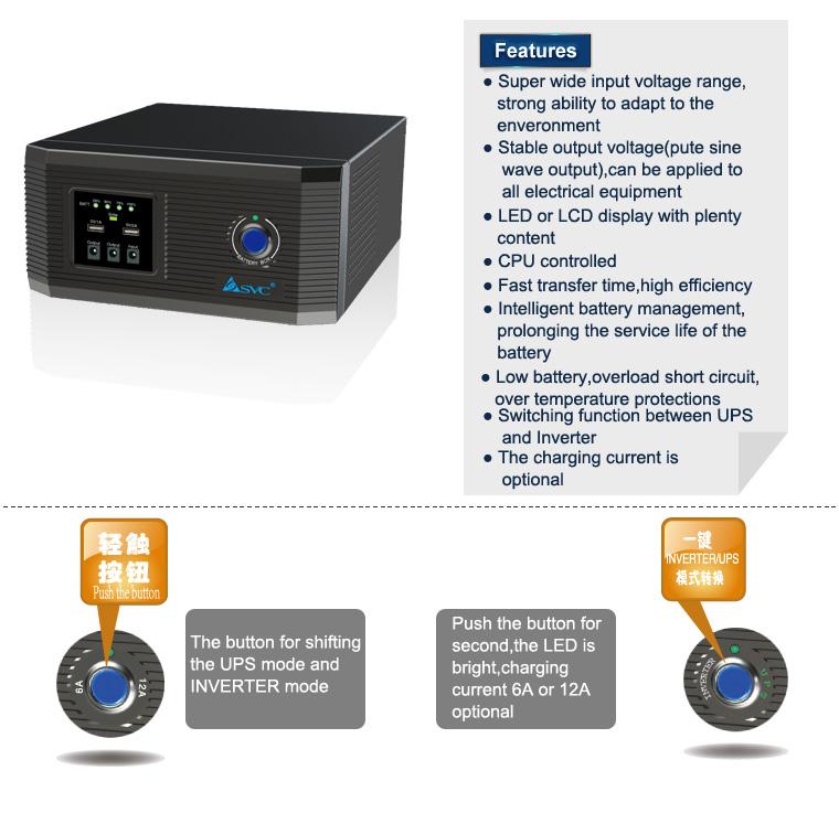 China Manufacture Intelligent Circuit Diagram Dc-ac Pure Sine Wave 1000w Power Inverter