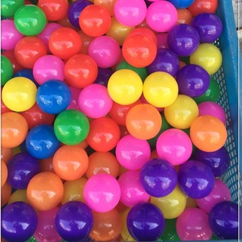 new style eccec b6e4d white red pink yellow blue green multi-coloured Plastic ball pit play ball