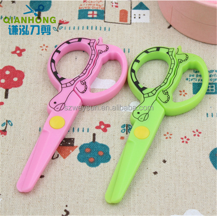 DIY Cute Kawaii Cartoon Plastic Safe Scissors For Paper Scrapbooking Kids Gift Korean Stationery