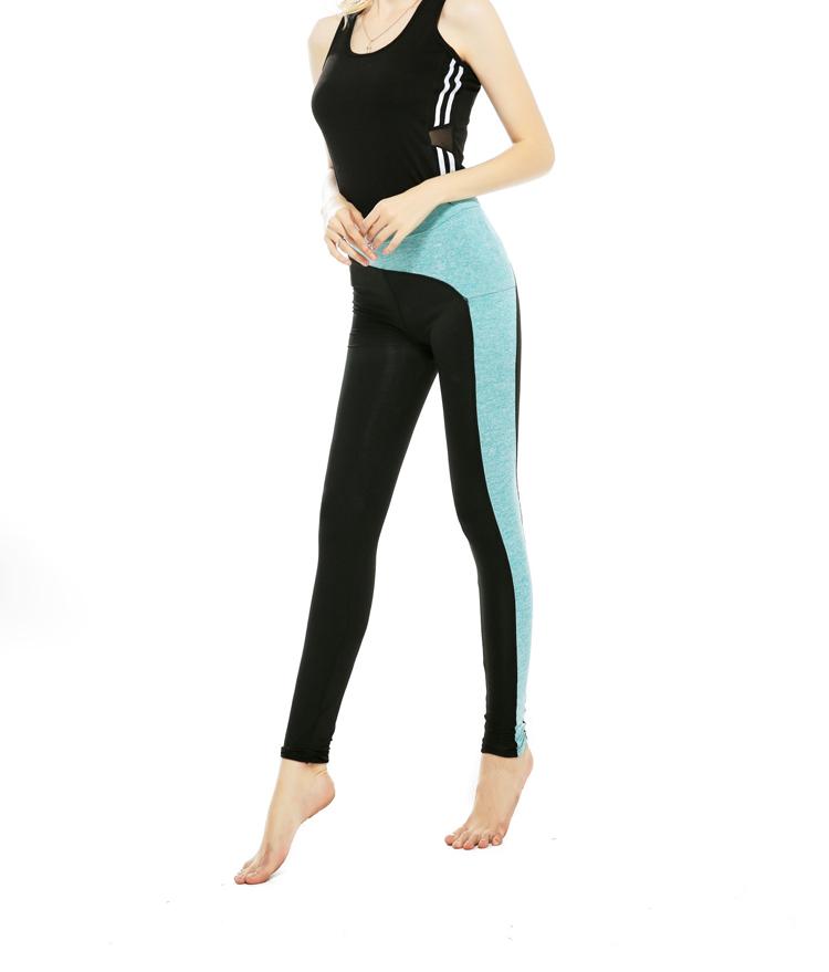 Moda patrón tipo con costura alta cintura traje ropa de yoga chaleco ...