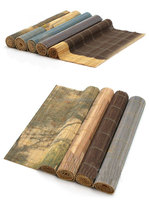 100% handmake cheap weaving bamboo sushi mat ,bamboo household table mat