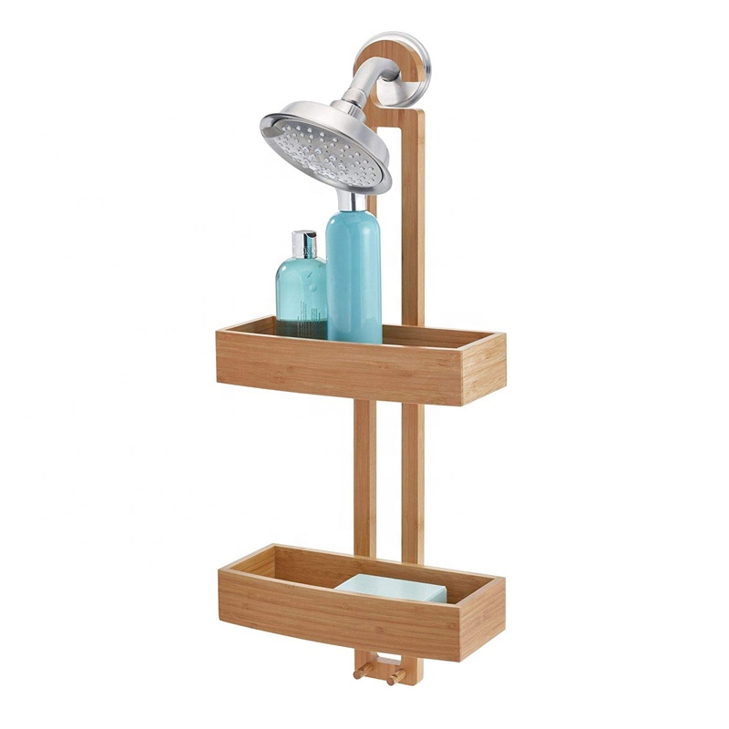 Bamboo-Hanging-Shower-Caddy-For-Shampoo-Conditioner