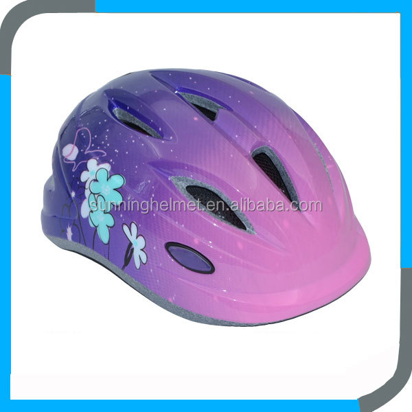 pretty children bike helmets for child,cheap in mold kids bicycle helmets,child helmets