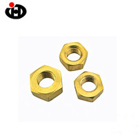 New Premium Bolts Nuts Hardware Products Brass Hex Nut ZInc Plated M4 Hex Nuts DIN934