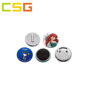 BSCI and Sedex Factory colorful print cheap OEM custom logo lapel pin button badge,metal button badge,plastic button badge
