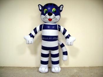 Acquista simpatico gatto blu portachiavi animale portachiavi