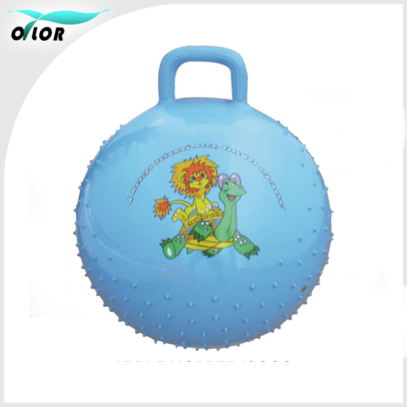 PVC Promotional Gift Space Hopper Ball With Handle
