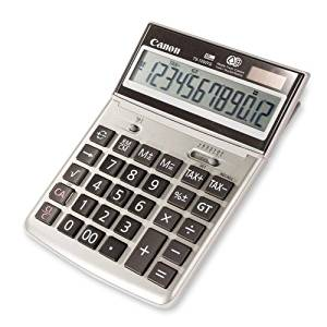 "12-Digit Desktop Calculator, 7-3/4""x5-1/4""x1-1/8"", Beige"