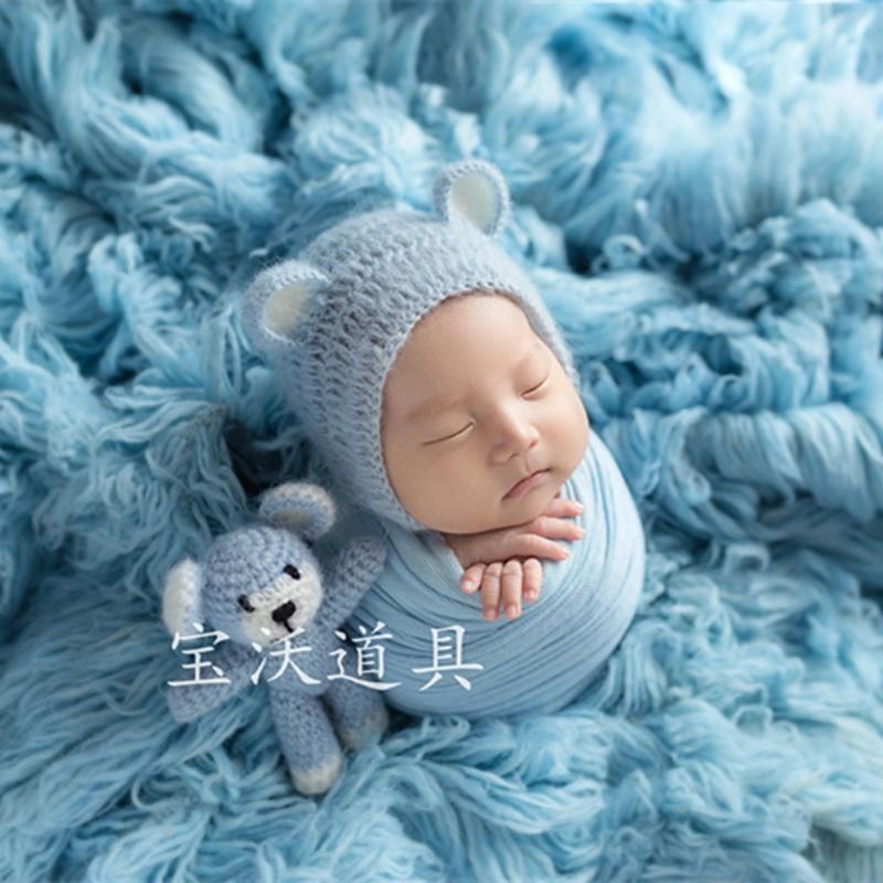 Newnorn Flokati Fur Blanket Fluffy Baby