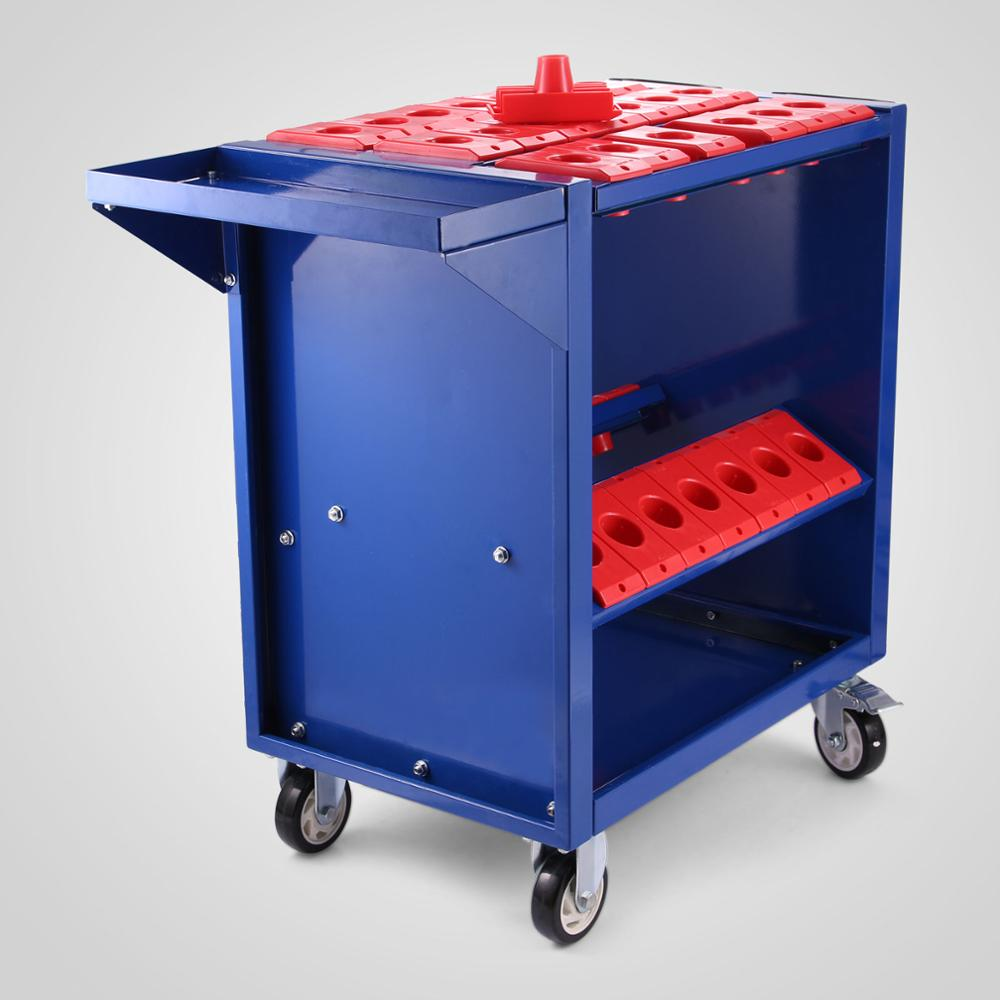 Free Shipping plastic trolley cart Free Shipping CNC Tools/Tooling Trolley Cart BT40 Blue