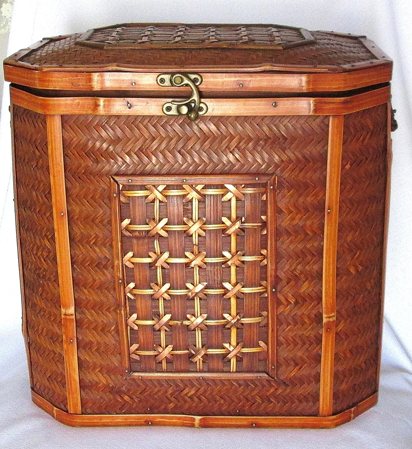 Get Quotations · Wicker/Rattan Copper Weaver Latched Storage or Decorative Chest & Cheap Rattan Storage Chest find Rattan Storage Chest deals on line ...