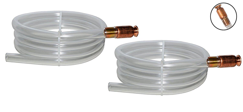 "Gas Siphon - The Original Safety Siphon - 6' High Grade Hose 1/2"" Valve - 2-Pack"