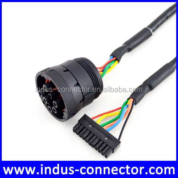 Bus connector 22-pin Molex with j1939 9pin deutsch cable
