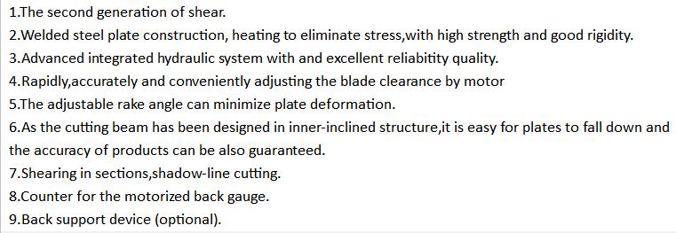 good quality QC11K-6X2500 Guillotine shearing machine,CNC guillotine shearing machine