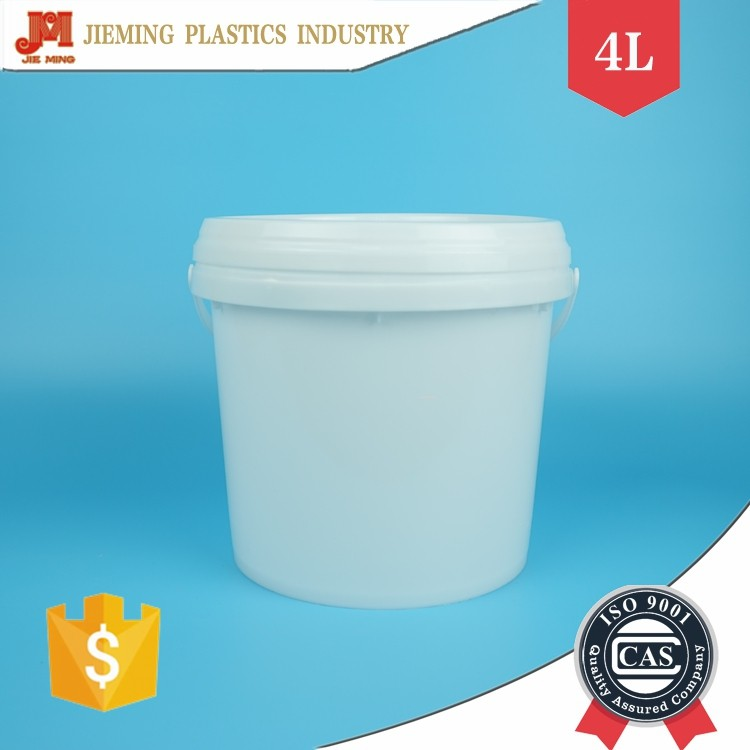 Chemical Bucket Secure Seal Lid, Plastic Handle Barrel, 1 Gallon Plastic Pails