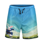 Custom sublimation printed design your own fashion mens 100 polyester beachwear beach shorts