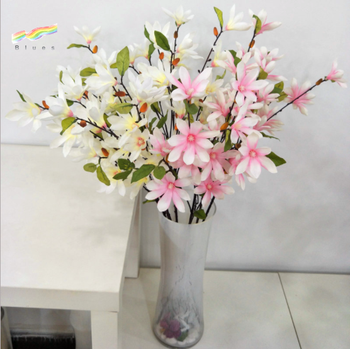 Wholesale Silk Magnolia Flowers Artificial Magnolia Branch Home