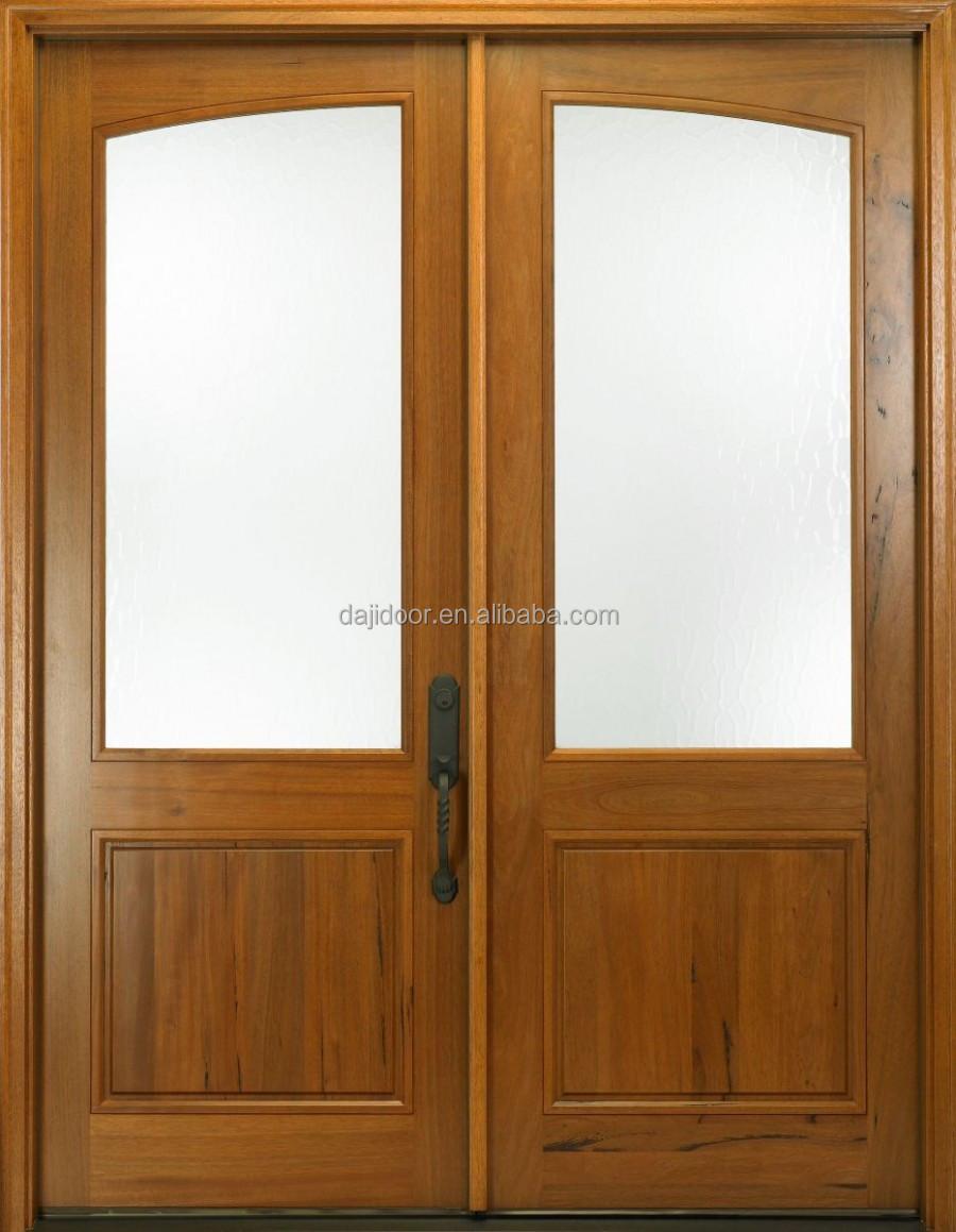 Vidrio transparente exterior puertas dobles con moldura dj for Puertas dobles exterior