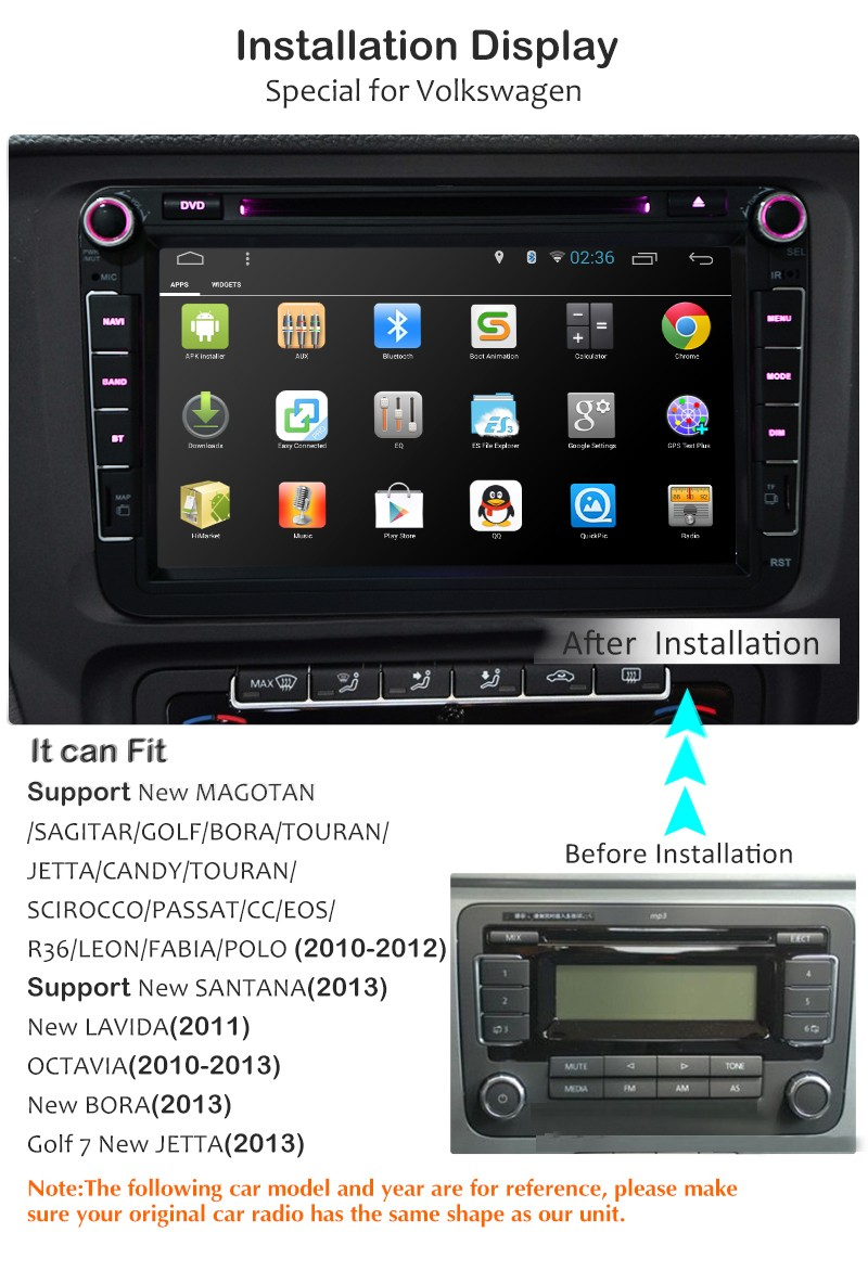 Smart Entertainment System 2 Din Android Joying Dvd Car With Rear View  Video For Vw - Buy Joying Car Dvd Player,Dvd Car For Vw Golf,Dvd Car  Product on