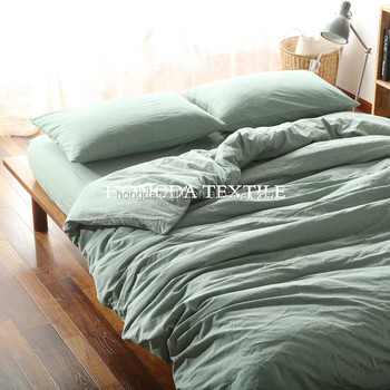 Stone Washed Bed Linen Bedding Set 100 Cotton Quilt Cover