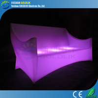 Plastic modern classic light up patio furniture GKS-201GR