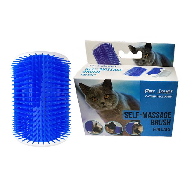 Cat Self Groomer Tool Massage Brush Scratcher Rubber Comb Soft Pet Brush 2019 Hot Amazon Wall Corner Cat Brush for Cat