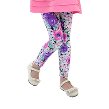 profit Only Earn Reputation free shipping high quality 1pc retail 2-7 years girl legging flower colors leggings for option