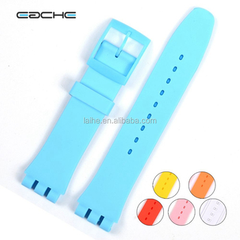 EACHE Fast Delivery Silicon Band 17mm 19mm 6 Color Soft Watch Strap Silicon Bands Stock