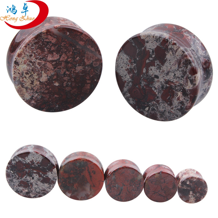 Beautiful Natural Stone Ear Expander Plug and Flesh Tunnel For Decoration