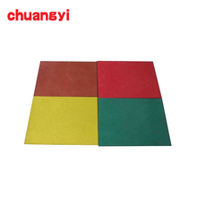 cheap price outdoor 50mm thick rubber mat flooring Tiles