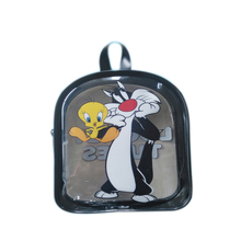 kids animated school toy pvc zip packing hanger bags