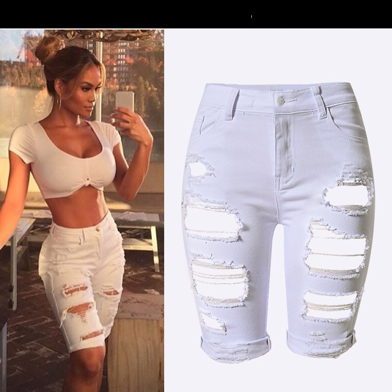 R0646H Latest style design fashion ripped slim women denim shorts