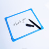 2017 drawing board plastic edge double side magnet writing mini board