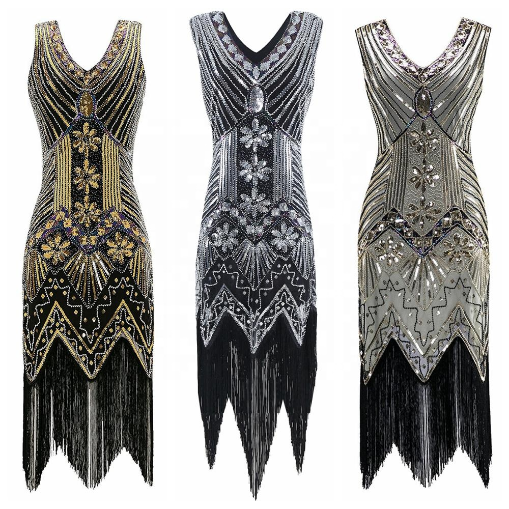 High-end Factory Outlet Women's 1920s Flapper <strong>Dress</strong> Gatsby Sequin Party Scalloped <strong>Inspired</strong> Prom <strong>Vintage</strong> Cocktail <strong>Dress</strong>