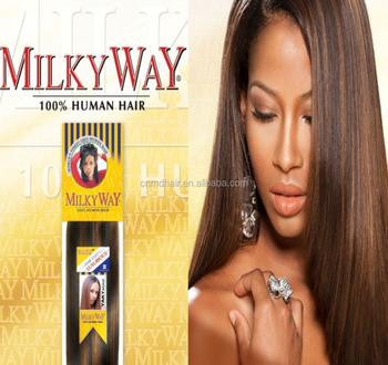 Milky way yaki perm human hair