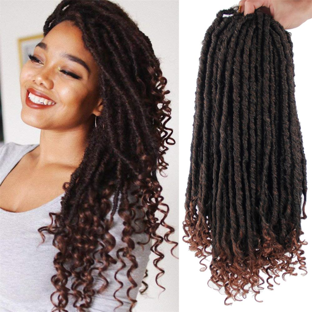 Yxcherishair 6 Pcs One Pack Crochet Dreadlocks Hair Extensions Jumbo Dreads Hairstyle Ombre Crochet Braids