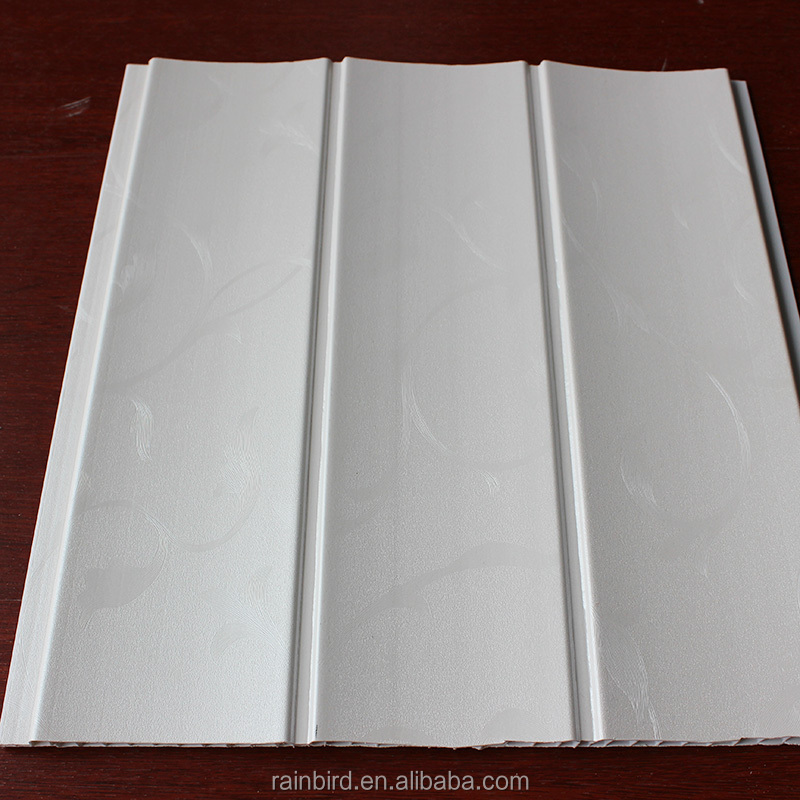 White groove PVC board wall panel plastic wall panels ceiling tiles exterior for Colombia market