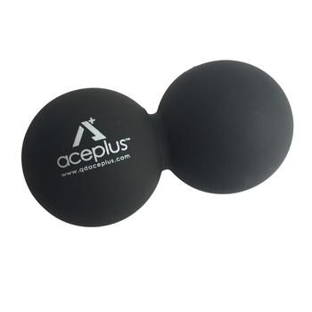 Black Silicone Double Lacrosse Massage Ball Peanut Massage Ball